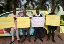 Disengaged Ogun workers took their protest to the country home of Prince Dapo Abiodun