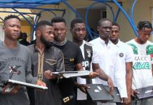 FILE PHOTO: EFCC parades 11 persons arrested for internet fraud