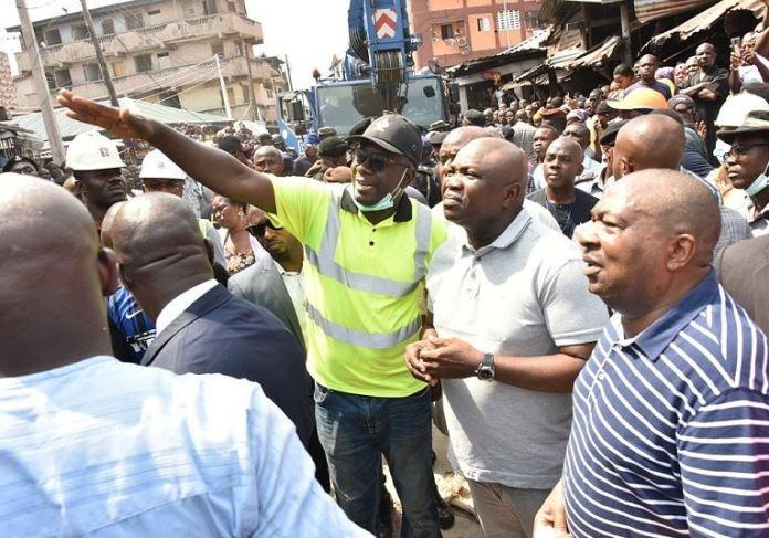 Governor Akinwunmi Ambode at Ita Faaji, Lagos Island where a building will school children collapsedGovernor Akinwunmi Ambode at Ita Faaji, Lagos Island where a building will school children collapsed