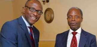 Mr Laolu Akande and Vice President Yemi Osinbajo