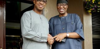 Prince Dapo Abiodun and Otunba Gbenga Daniel held a closed door meeting at the latter's home in Maryland, Lagos Competition