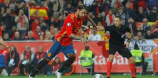 Sergio Ramos scored a Paneka as Spain left it late to beat Norway 2-1