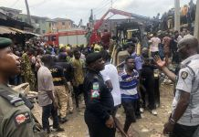 Seven children have been rescued from the building crash on Lagos Island