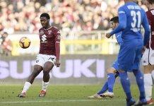Torino defender Ola Aina has been handed a three match ban following his red card at Bologna