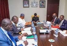 Vice President Yemi Osinbajo presides over committee on the review of National Public Security System. 27th March, 2019. by Novo Isioro