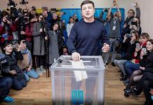 Volodymyr Zelenskiy wins first round of Ukraine presidential election