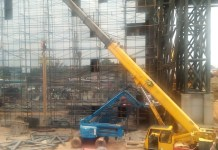 On-going construction of one of the projects to be commissioned by the president