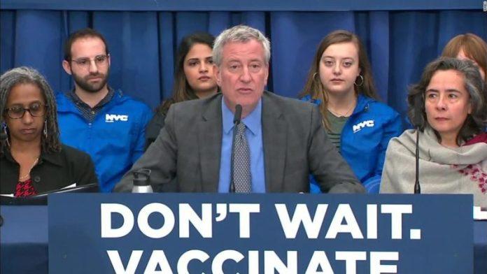 Mayor Bill de Blasio declares measles emergency in New York