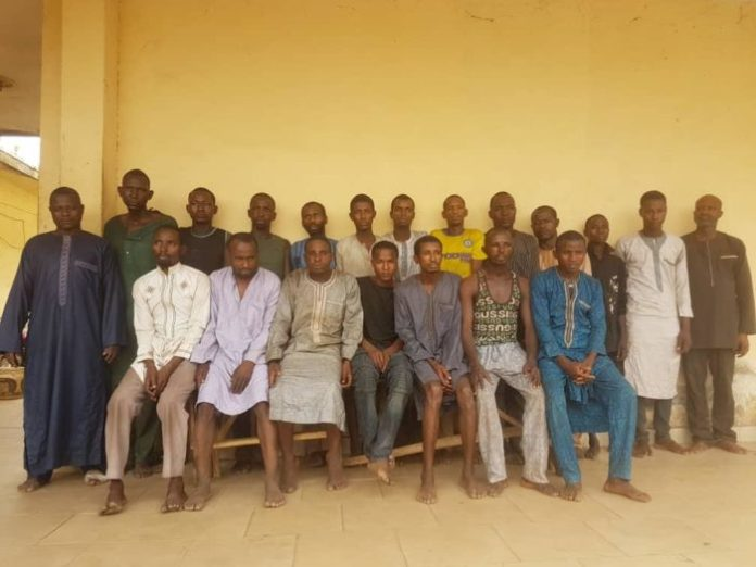 Nigeria Police Operation Puff Adder arrested 18 kidnappers along with their spiritual father