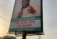 PDP presidential candidate Atiku Abubakar has disowned The Pukka billboard
