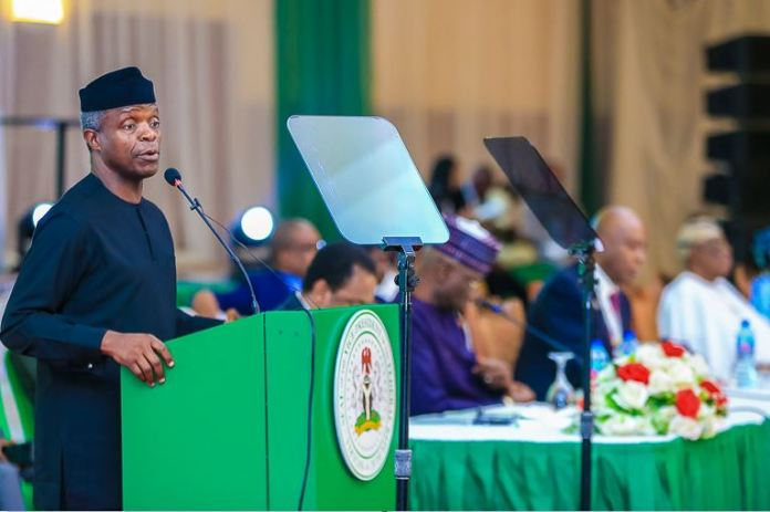 VP Osinbajo delivers keynote remarks at the Nigerian Governors Forum