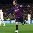 Lionel Messi was on target twice for Barcelona