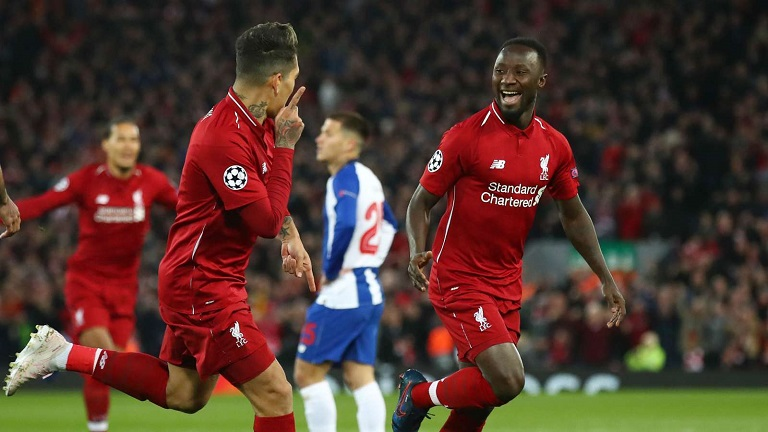 Keita and Firmino scored to put Liverpool in control