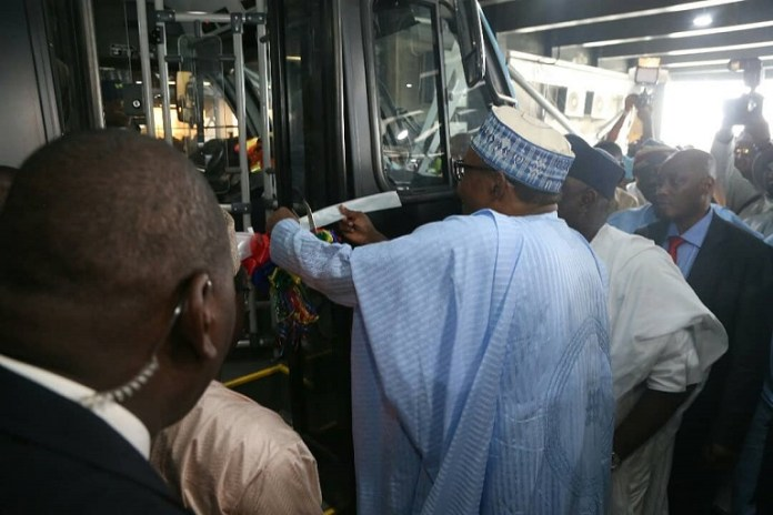 Buhari commissions newly acquired buses