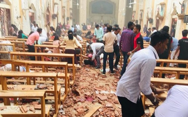 inside one of the churches attacked