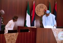President Buhari and VP Osinbajo at the longest cabinet FEC meeting on Wednesday
