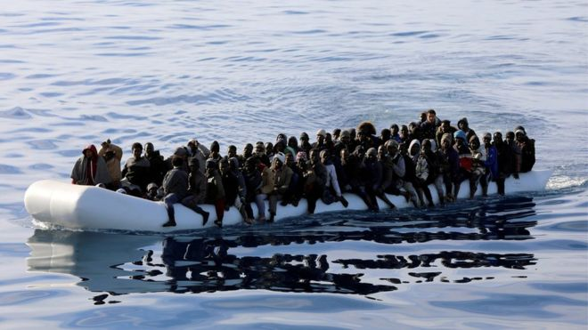 A UN report says six migrants died every day in 2018 trying to cross the Mediterranean