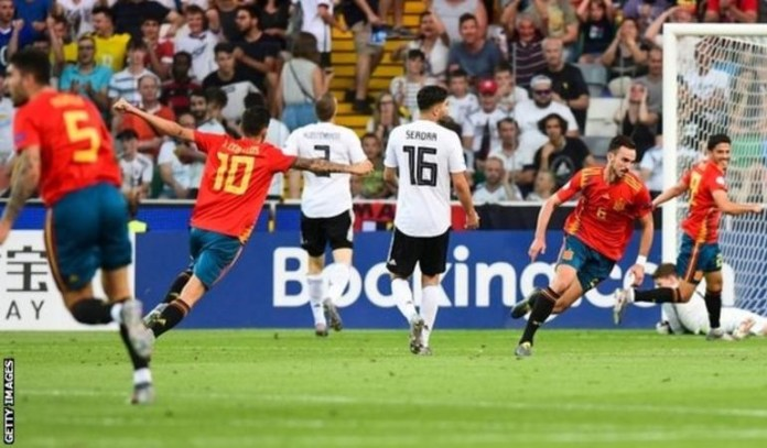 Fabian Ruiz scored Spain's opener and had a hand in the second