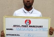 Fake EFCC employment officer Bisong James sent to prison