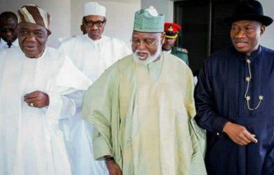 Ernest Shonekan, Abdulsalami Abubakar and Goodluck Jonathan