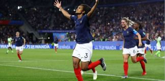 Wendie Renard was saved by VAR after she lost her first spot kick