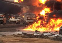 Fire outbreak in Ijegun following a suspected pipeline vandalization
