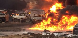 Fire outbreak in Ijegun following a suspected pipeline vandalization