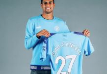 Joao Cancelo has joined Manchester City from Juventus with Danilo going the other way