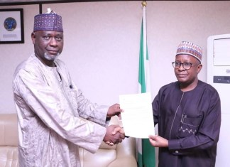 Prof Mohammed Sambo (left) has vowed to rebrand NHIS
