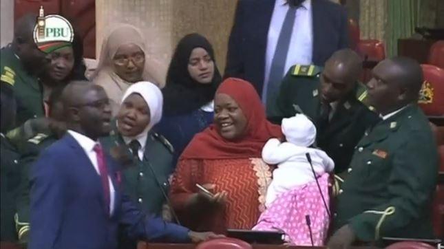 Speaker of Kenyan parliament ordered MP Zuleika Hassan to leave parliament