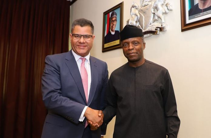 VP Yemi Osinbajo receives UK Secretary of State for International Development, Hon. Alok Sharma