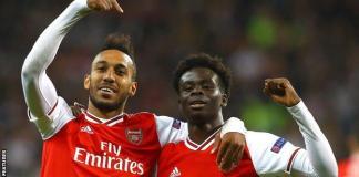 Pierre-Emerick Aubameyang scored his 20th league goal of the season