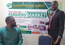 From L to R: Mr Uchendu Nwabara CEO IAYADS and Mr Suge Kanu Kingsley CEO CK Empire during the training on the new Farmers Market Platform