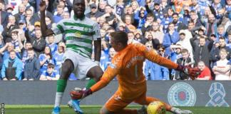 Odsonne Edouard slid Celtic in front with his fifth goal in seven Old Firm appearances