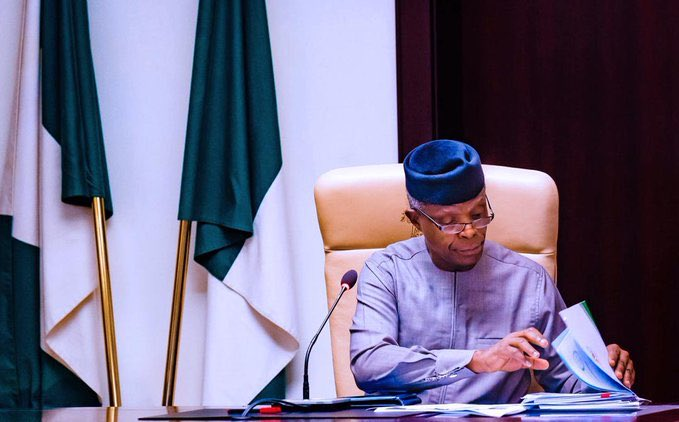 Vice President Yemi Osinbajo will lead Nigeria's Economic Sustainability Committee