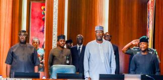 Vice President Yemi Osinbajo presiding over the 97th National Economic Council meeting