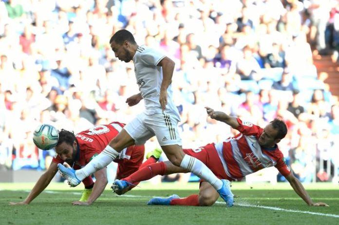 Eden Hazard scored his first Real Madrid goal against Granada