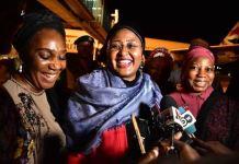First Lady, Aisha Buhari returns to Nigeria from the UK