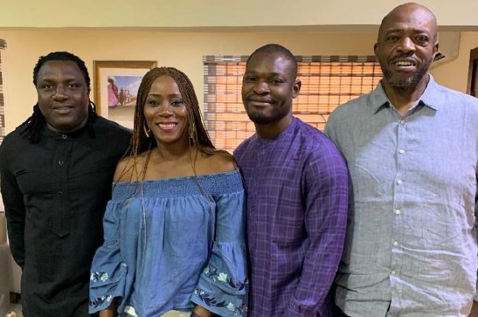 L-R: Chairman, Lagos Advertising and Ideas Festival (LAIF) Management Board, Steve Babaeko; Vice Chairman of the LAIF Management Board, Temitope Jemerigbe; Bolaji Alausa, member LAIF Management Board; and Jenkins Alumona, Publicity Secretary, Association of Advertising Agencies of Nigeria (AAAN), at a media roundtable on 2019 LAIF awards in Lagos recently