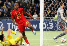 Michy Batshuayi scored his 16th international goal in 28 appearances for Belgium