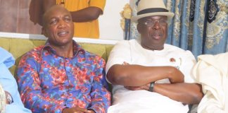 Bayelsa governor-elect David Lyon and Chief Timipre Sylva, Minister of State for Petroleum