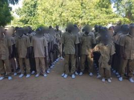 Boko Haram child soldiers that were handed over to Borno govt after rehabilitation