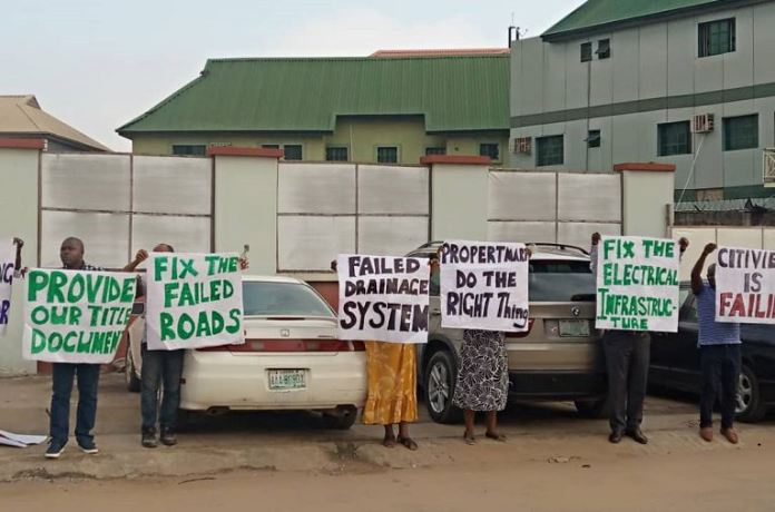 Citiview Estate residents protest the nonchalance of Propertymart