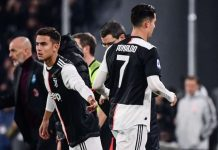 Paulo Dybala had also replaced Ronaldo, after 82 minutes, in the Champions League five days earlier