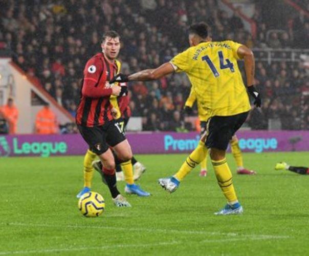 Aubameyang grabbed the equaliser, his 12th league goal of the season
