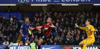 Dan Gosling scored his first goal of the season for Bournemouth