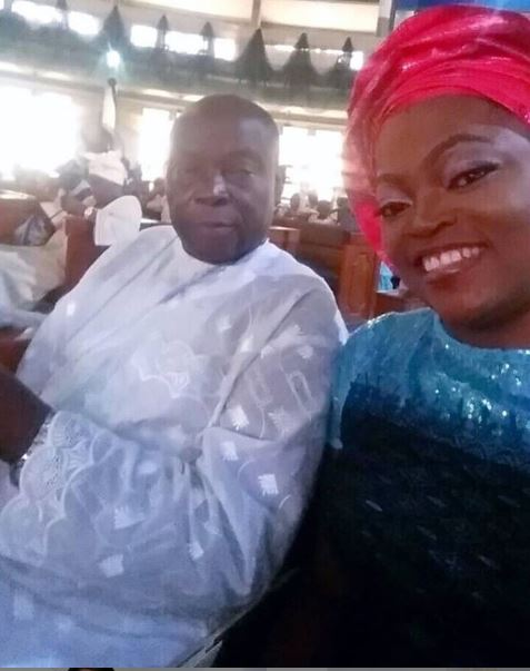 Funke Akindele has announced the passing of her father