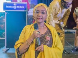 Nigeria Minister of Humanitarian Affairs, Disaster Management & Social Development, Sadiya Umar Farouq N-power School Feeding