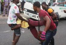 LASTMA official being rough handled
