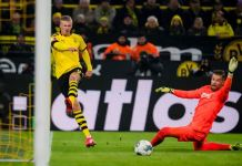 Haaland has scored five goals in two matches as substitute for Borussia Dortmund